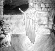 天使ガブリエルとヨセフ