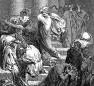 神殿から商人を追い出す - ドレ